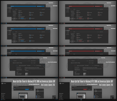 Numix Dark Blue and Red For Win10 Creators Update by Cleodesktop