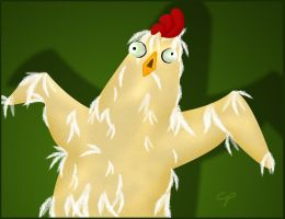 Zombie Chicken The Beginning by surlana