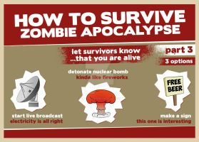 How to Survive Zombie Apocalypse #3 by 4MindZapper