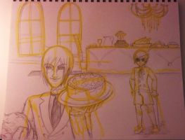 Sketchbook Homework: Welcome to the Mansion by SweetlyAddicted