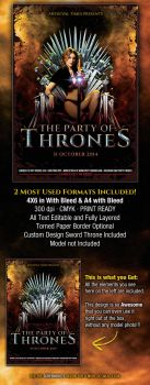 The Party of Thrones Medieval Flyer by PVillage