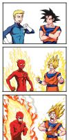 Human torch X Super seiya by sharknob