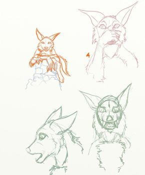 Faceless expression sketches by Mr-Monster-Mutt
