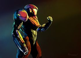Samus Sketch by AnthonyPismarov