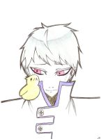 Prussia + Gilbird: Don't Cry Please... by RhodArt