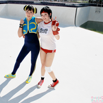 Sporty Chun Li and Sakura by CosplayCousins