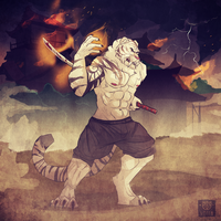 Commission for Saberthetiger by VetroW