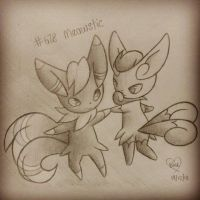 #678 Meowstic by Bluekiss131
