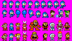 Megaman: Powered Down Sprites by Cyberguy64
