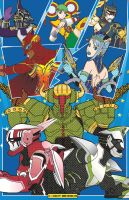 Tiger and Bunny SuperHeroes by sincomix