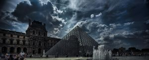 louvre in the dark by easycheuvreuille