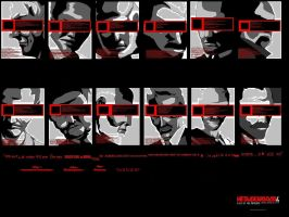 Metal Gear Solid 4 Wallpaper by AesopDoodler
