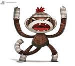 Day 834. Sock Monkey by Cryptid-Creations