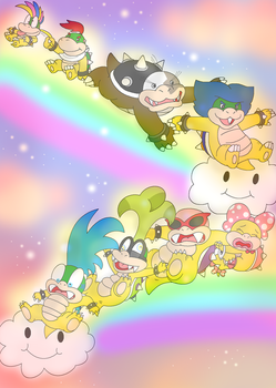 sliding down the rainbow by Nintendrawer