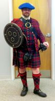 Me in my Scottish Jacobite costume by AbrahamThunderwolff