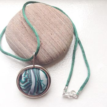 Marble clay pendant necklace by LinniePinnies