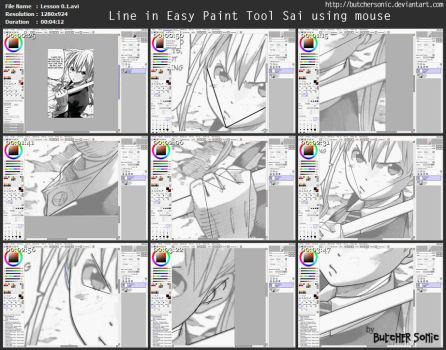 Video Lesson 0.1 - Line in Sai using mouse by ButcherSonic