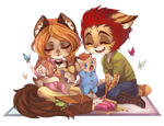 Making Memories - Chibi commission by clover-teapot