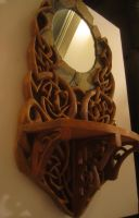 Wood and Slate Stone Mirror 2 by JButlerDesign