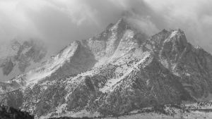 Mountain Storm in Black and White by bowencormac