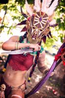 Witch doctor cosplay Diablo III by Nemu013