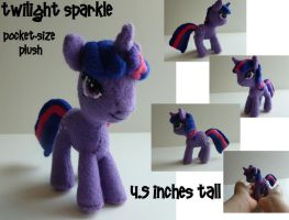 Twilight Sparkle Pocket-size Plush by Hyper-piston