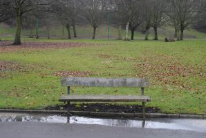 Bench in the Park by StarSlateStock