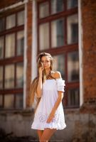 white dress by DenisGoncharov