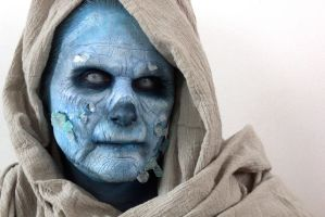 Ice Zombie make-up by FeralWorks