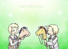 aph: two little boys by Kaede-chama