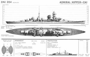 Technical Drawings: KMS Admiral Hipper by bwan69