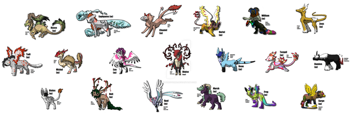Any Species Breeders-Male  TEMPORALLY CLOSED by Silverstorm1
