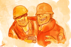 TF2: Mates by Radioactive-Blowout