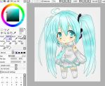 colouring miku lineart wip by xbeethkilljoyx