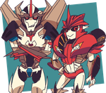 tfp: Starscream and Knockout by c0ralus