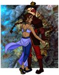 Katara and Zuko coloured by Mikha