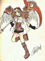 steampunk angel by Kharen94th