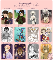 2016 Summary of Art by Cecaangyal