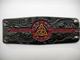Custom Celtic Trinity Cuff by AFlem