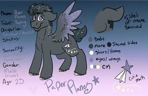 Paper Planes Reference Sheet by Starlord-wannabe