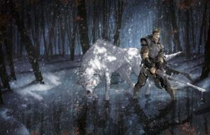 Jon Snow and Ghost by RStotz