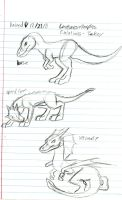 Creaturemorphs T-rex forms (Very old) by Dinoboy134