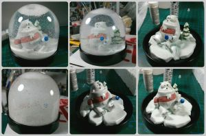 Lint Remover Yeti Snow Globe by Kilh