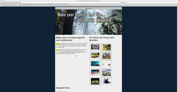 YPH: Your Personal Home page by Magic3W