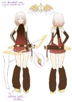 Character design for Konohana Sakuya by Nuei
