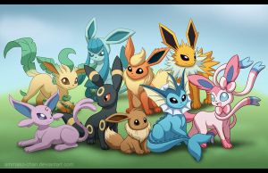 Eeveelutions by Ammako-chan