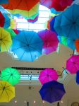 Floating umbrellas by littlebrit