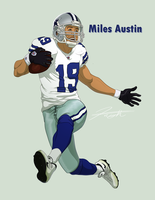 Dallas Cowboys- Miles Austin 19 by DJCoulz