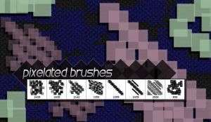 8 Free Hi-Res Pixelated Photoshop Brushes by designerfied