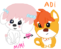 DibiDogs:MimiXAdi by cottoncloudyfilly